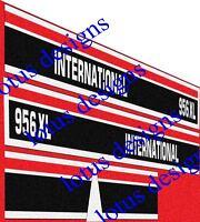 international 956xl stickers / decals