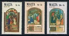 Malta 1983 Navidad SG719/21 Estampillada sin montar