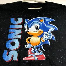 Sega Sonic Hedgehog Men's Short Sleeve T Shirt 3XL XXXL Black Crewneck