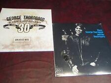 GEORGE THOROGOOD HITS + MORE ROUNDER RECORDS 1980 ISSUE Analog Sealed LP SET