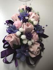 Wedding Flowers Ladies Purple/Pink Mother  Of The Bride Corsage