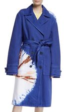 CALVIN KLEIN 205W39NYC Womens Tie-Dye Twill Double-Breasted Belted Trench Coat