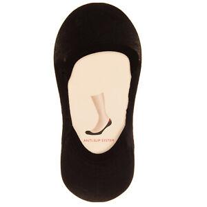 FALKE Footsie Socks Size 35-38 / UK 2.5-5 Black Anti Slip System Low Cut