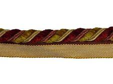 """Trimland Chenille Collection 1015 7338 BERRY GOLD 1/2"""" Decorative Cording w/lip"""