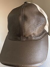 NWT $640 Gucci Men's Soft Deer Hat Baseball Cap Brown/Beige XL Italy