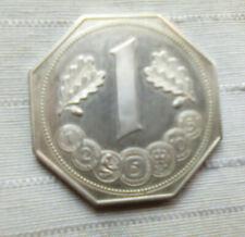 Medaillie 8eckig  40 Jahre deutsche Mark ca 23 gr Silber