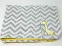 Just One You Carters Giraffes Yellow Gray White Chevron Zig Zag Sherpa Blanket