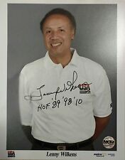 Lenny Wilkens signed autographed/inscribed Rare Usa Olympics photo (Coa auto)