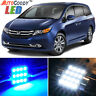 17 x Premium Blue LED Lights Interior Package Kit for Honda Odyssey 11-17 + Tool
