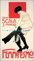 Femminismo 1911 Italian Feminist Art Vintage Poster Print Retro Modernism Style