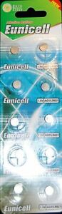 Eunicell  AG1/ LR621 Batteries 1.5V Battery Eunicell ( Pack of 10) Long Life