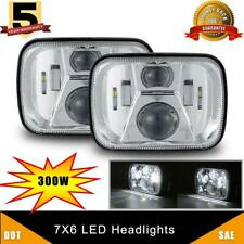 2x Chrome H6054 LED Headlight 7x6 Headlamp for Chevy Express Van Jeep YJ XJ Ford