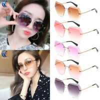 Luxury Women Fashion Ocean Retro Sunglasses Outdoor Frameless Eyewear Glasses