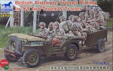Bronco Models - 1/35 britanniques (AIRBORNE) 1/4Ton Truck & Trailer with crew # 35169
