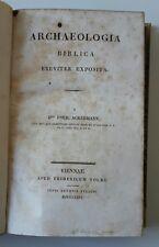 FOUR ACKERMANN ARCHAEOLOGIA BIBLICA BREVITER EXPOSTA  F. VOLKE 1826