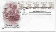US Scott #2255, First Day Cover 8/30/88 San Jose Plate #1 Coil Carreta