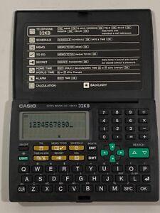 Casio Illuminator Data Bank Vintage Calculator Alarm DC-7800 32KB w/ Battery