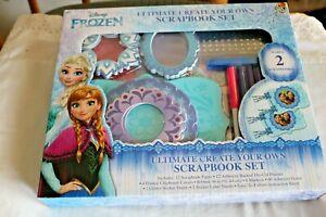 Disney Frozen Ultimate Create Your Own Scrapbook Set Makes 2- Die cuts Gems NIB*