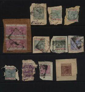 CYPRUS Victorian range on letter piece, Postmark interest