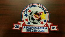 Vintage Shooting Stars 2001 Indepence Soccer Club sew iron on sports patch rare