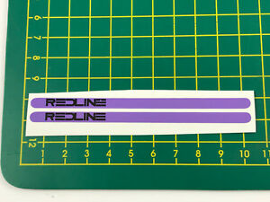 old school bmx decals stickers redline flight cranks black on lavender