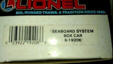 LIONEL SEABOARD SYSTEM SINGLE DOOR BOXCAR--O GAUGE-- BRAND NEW