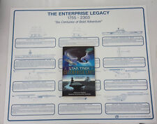 Vintage Star Trek Enterprise Logs Book- 6 Centuries, 10 Captains w Legacy Poster
