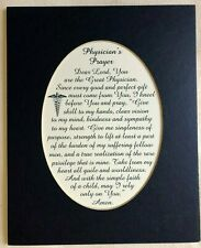 Doctor PHYSICIAN PRAYER Skill Kind Sympathy LORD Bless HEAL verses poems plaques
