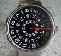 Black faceJump Hour Direct Read Retro 1960s Style Watch Men Paidu  Wristwatch