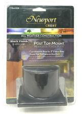 "Newport Coastal Post Top Mount with Cast Aluminum Base for 3"" Fixture Base BLACK"