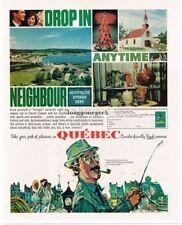 1963 Quebec Canada Travel Tourism art Vtg Print Ad