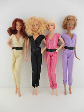 A Set of 4 Totally Hip One Piece Pant Suits in Gold, Black, Purple, and Pink Mad