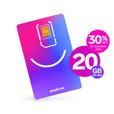 Chip/SIM Simplii México 20 GB con Minutos, SMS y Redes Sociales Ilimitadas