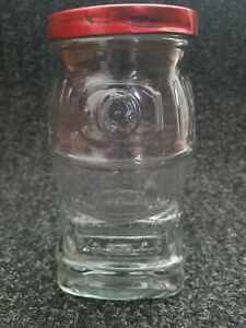 Vintage Clear Glass Pot Belly Stove Bank