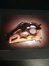 """Texas Ranger Gun & Badge Large 16 X 20"""" Picture Print New In Lithograph Dealer"""