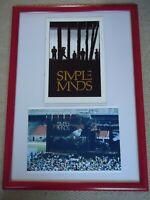 SIMPLE MINDS TOUR PROGRAMME 1986 VINTAGE ORIGINAL + 2 COLOUR  PHOTO IMAGE GEMS