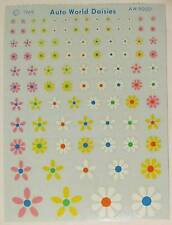 1969 Auto World Daisies Flower Power Decal Sheet for Model Cars, Slot Cars, etc.