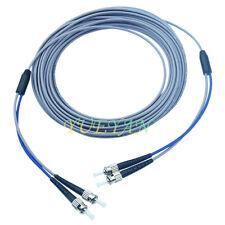 300M ST-ST UPC Armored Fiber Cable Multi-Mode Duplex Optical Fiber Patch Cord