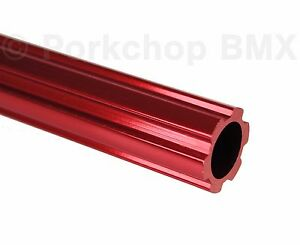 """Old school BMX bicycle 450mm seatpost seat post fluted alloy 22.2mm 7/8"""" RED"""
