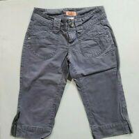 No Boundaries Juniors Size 5 Gray Capri's / Bermuda Shorts Summer Shorts
