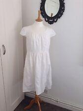 lovely white boden linen dress size 12R