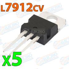 5x Regulador tension Negativo L7912CV L7912 -12V 1,5A VOLTAGE REGULATOR TO-220