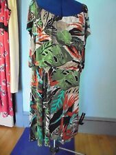 NORTHSTYLE Size 3X dress NEW jersey poly & spandex floral print Brown & Green