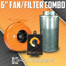 """6"""" CARBON FILTER + FAN + SPEED CONTROLLER COMBO! ODOR SCRUBBER inline hydroponic"""