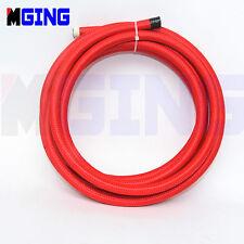 AN6 AN-6 AN 6 6AN 6-AN Stainless Steel Braided Oil Fuel Line Hose 1 FOOT Red