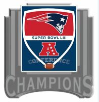 SUPER BOWL 53 AFC CONFERENCE CHAMPIONS PIN NEW ENGLAND PATRIOTS SUPERBOWL LIII
