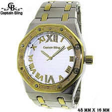 Men's Elegant Dress Watch Hip HOP style  ICE NATION /CAPTAIN BLING #WM375 New