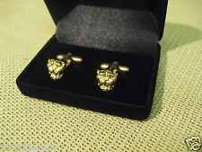 JAGUAR GROWLER HEAD CUFF LINKS CUFFLINKS - E-TYPE S-TYPE MK2 420 XJ6 XJ12 XJ XF
