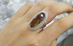 AAA QUALITY - STERLING 925 SILVER  JEWELRY PLAY OF COLOR ALEXANDRITE LADY RING