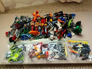 LEGO Bionicle 3.5 lbs Pieces Lot - w/ 4 Complete Figures